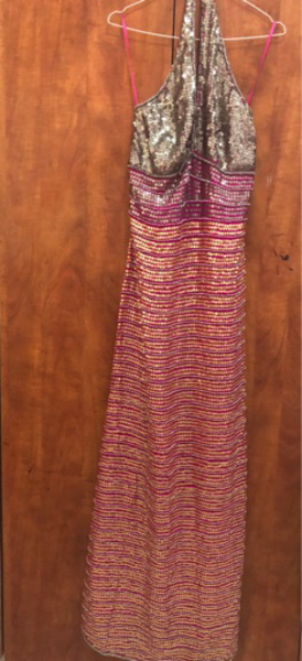 Used Pink and silver halter dress in Dubai, UAE