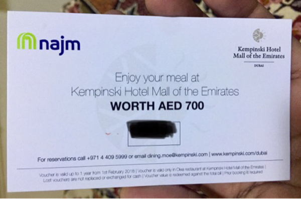 Used Enjoy Royal meal at Kempinski hotel!! in Dubai, UAE
