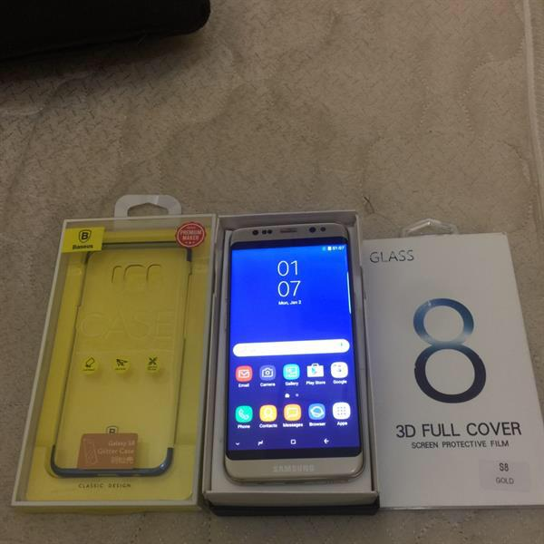 Used Samsung Galaxy S8 Gold Master Copy  in Dubai, UAE