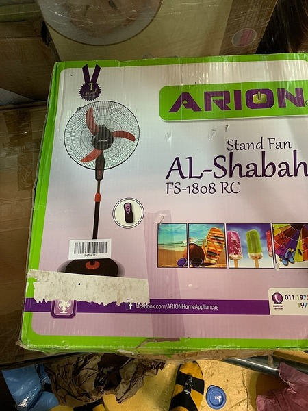 Used Standing fan with remote in Dubai, UAE