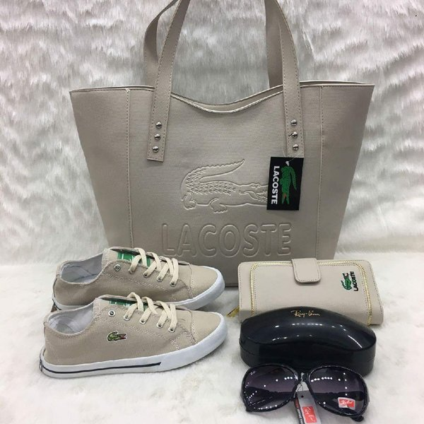 Used LACOSTE BAG/WALLET/SHOES GREY/BIEGE in Dubai, UAE