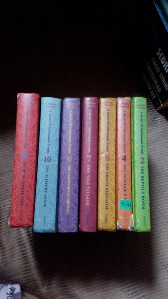 Used 7pcs Original Book by Lemony Snicket in Dubai, UAE