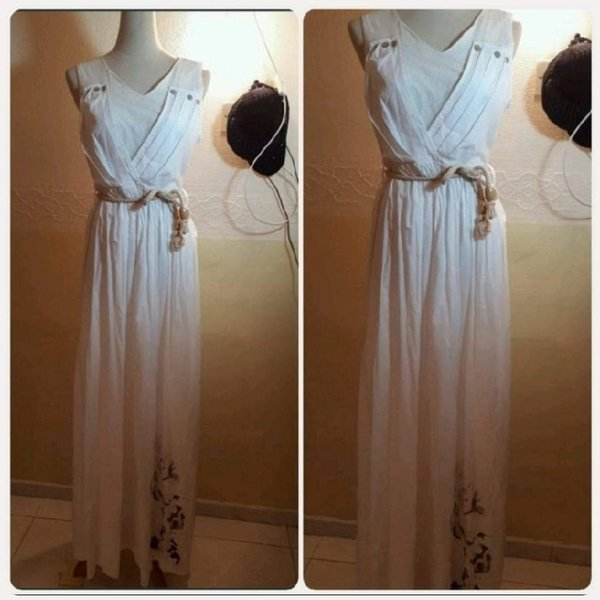 Used Brand new white long dress for Lady. in Dubai, UAE