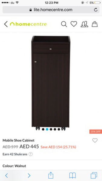 Used Shoe cabinet from home center  in Dubai, UAE