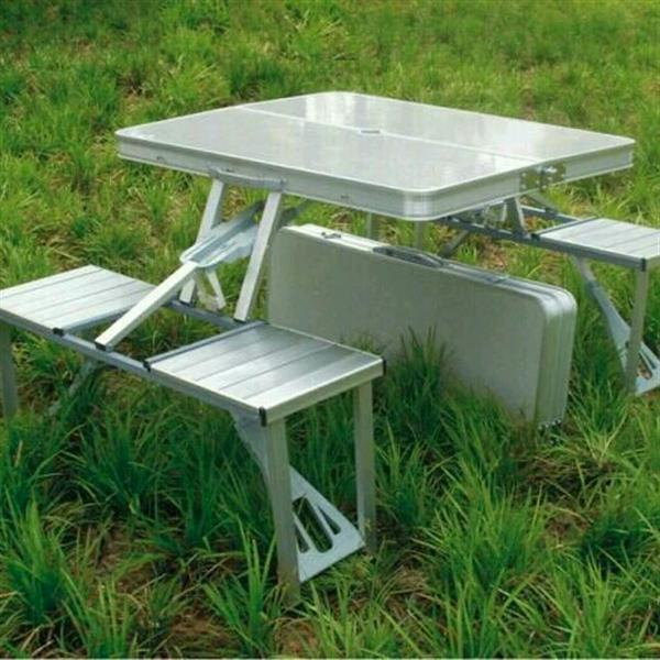 Used Suitcase Picnic Table ((5style Foldable+Easy Fits In Any Car Deck+Each Chair Bear 120 Kgs)) in Dubai, UAE