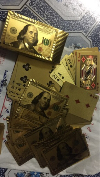 Used 24karet gold playing card in Dubai, UAE