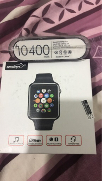 Used Orginal powerbank + smart watch  in Dubai, UAE