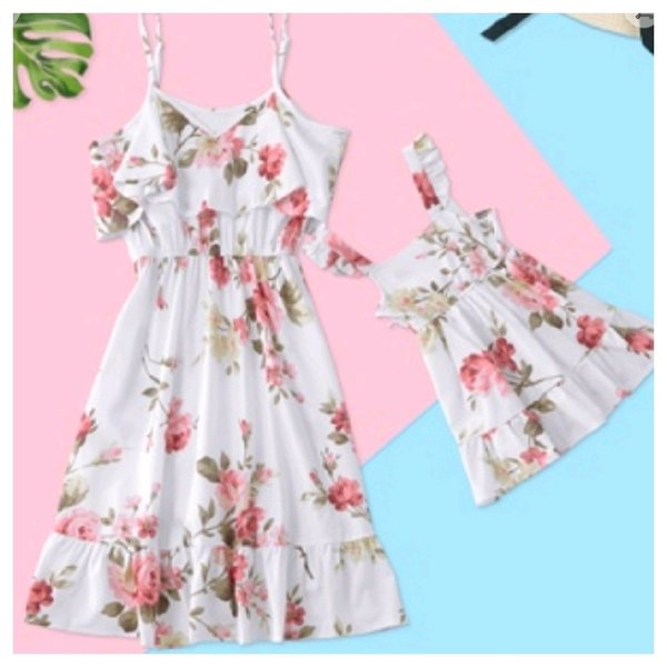 Used 2 pcs dresses for mommy and me patpat in Dubai, UAE