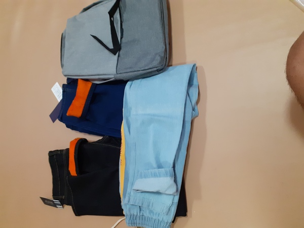 Used 3 man jeans and backpack in Dubai, UAE