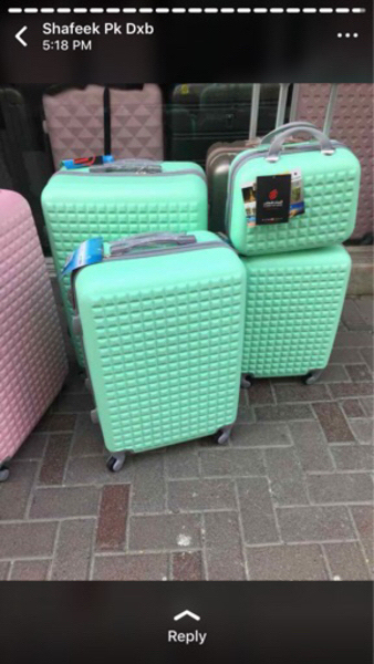 Used 4pcs trolley bag in Dubai, UAE