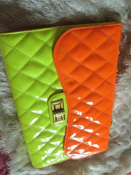 Used Bright bag, neon, some wear and tear in Dubai, UAE