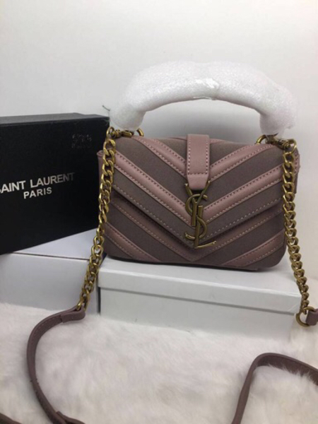 Used Pink YSL 💼 ,master copy in Dubai, UAE