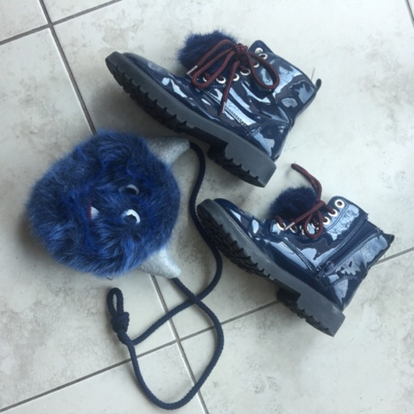 Used Zara monster boots with bag in Dubai, UAE