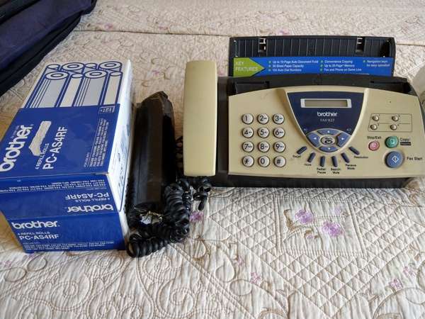 Used Fax Machine - Brother 827 with 5 refills in Dubai, UAE