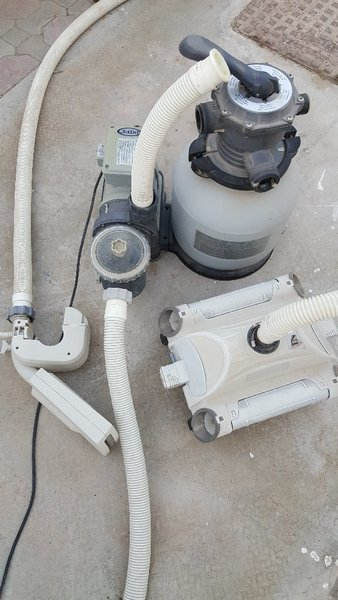 Used Intex pool pump+Autom.cleaner+fountain in Dubai, UAE