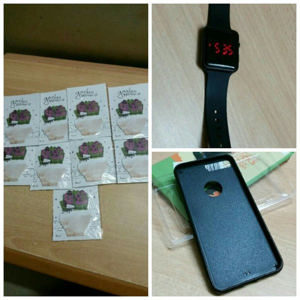 Used Bundle offer 3pc(iphone7,Watch,Stickers) in Dubai, UAE