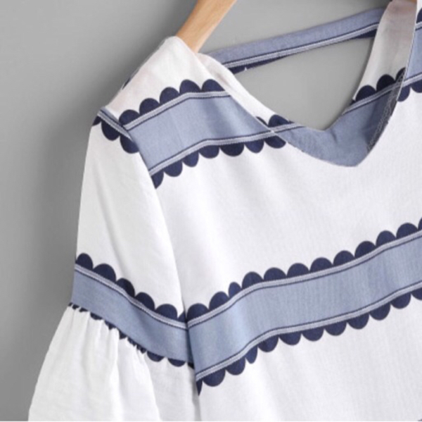 Used Blue and White Dress in Dubai, UAE