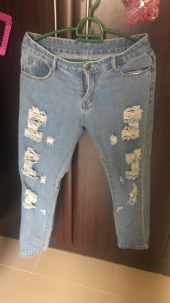 Used Ladies jeans L size used twice in Dubai, UAE