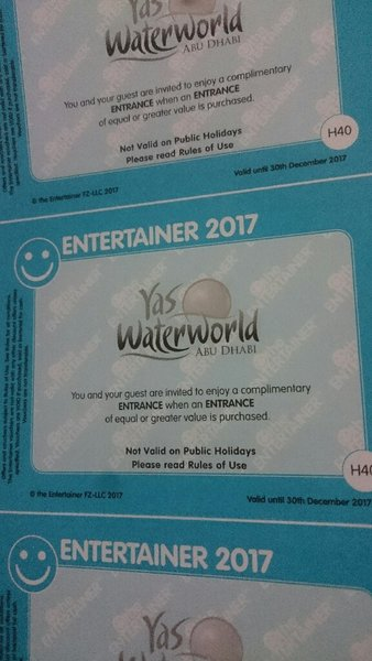 Used Yas water. World voucher unwanted in Dubai, UAE