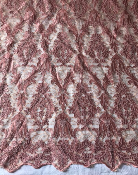 Used Embroidered Rich Fabric – Pink in Dubai, UAE