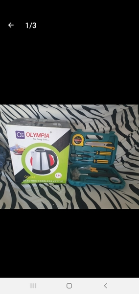 Used New kettle and tools set not used in Dubai, UAE