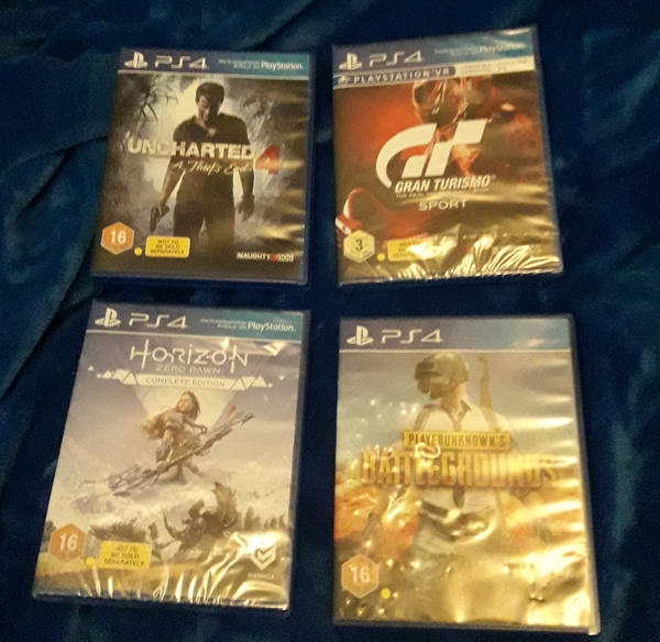 Used Four Ps4 New UnOpened Games (2 + 2 ) in Dubai, UAE
