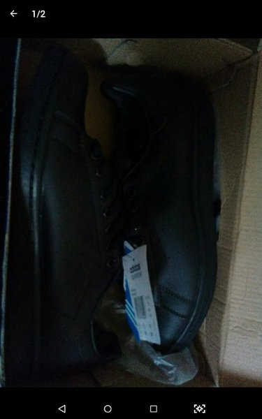 SS Adidas Full Black Size 41-New