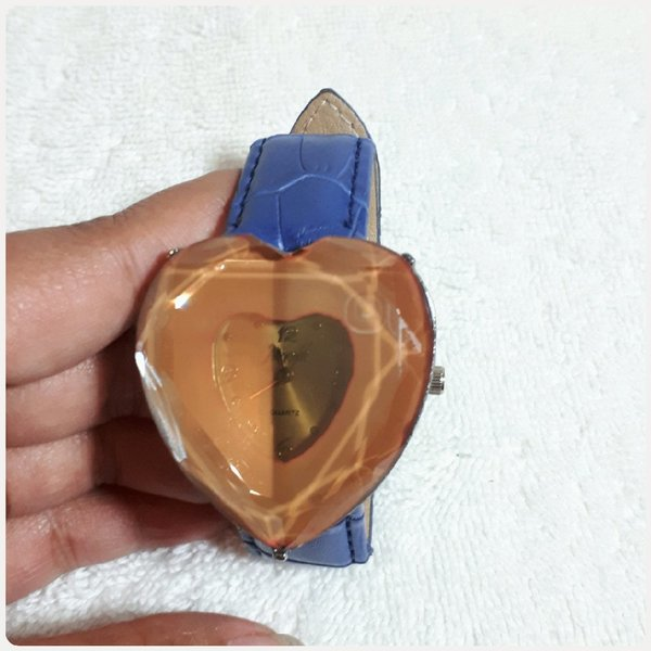 Used Beautiful blue HEART watch for her in Dubai, UAE