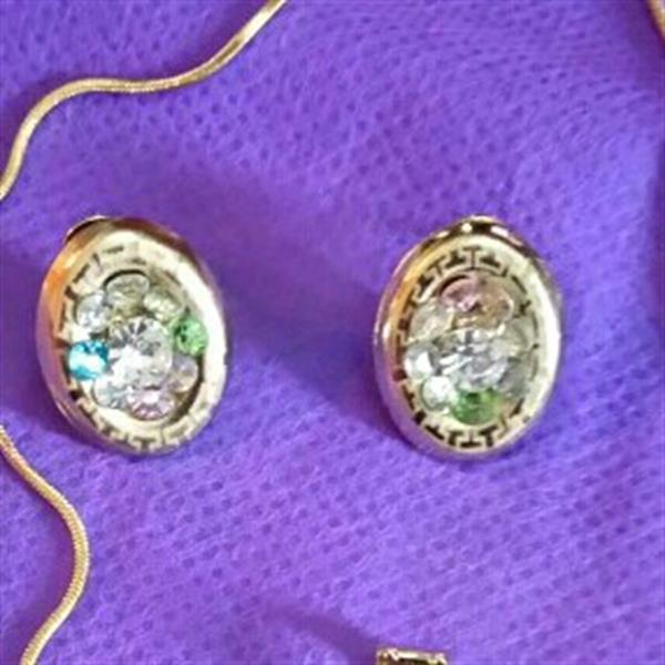 Used 18 K Gold Plated Set Necklace And Earing in Dubai, UAE