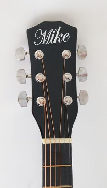 Used Brand New Acoustic black guitar with bag in Dubai, UAE