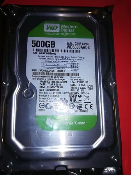 Used Western Digital 500 GB Hdd for Desktop in Dubai, UAE
