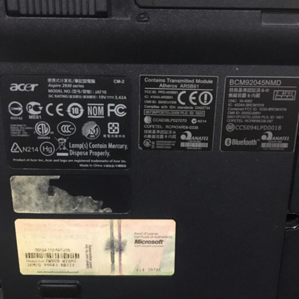Used Acer Aspire 2930z *NOT working in Dubai, UAE