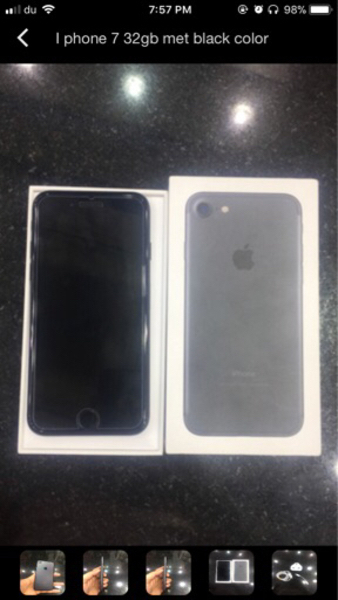 Used Iphone7 mate black 32GB  in Dubai, UAE