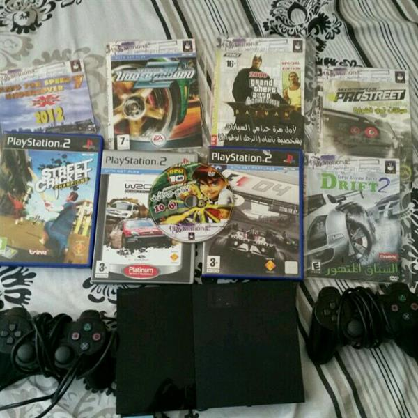 Used Playstation 2 With Good Condition And With 9 Games Along With 2 Controllers And 8 MB Memory Card in Dubai, UAE