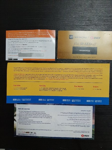 Used 4 vouchers in Dubai, UAE