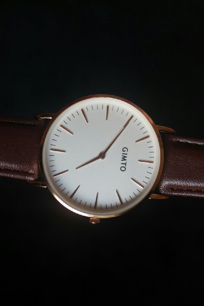 GIMTO watch in genuine Leather Strap