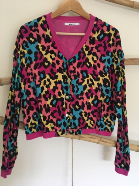 Used Leopard print bomber jacket  in Dubai, UAE