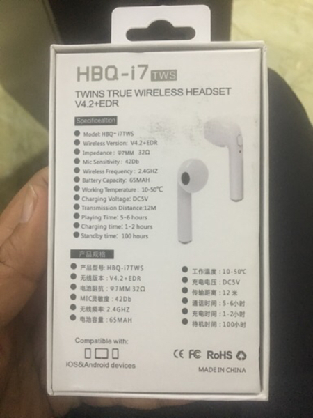 2pieces Bluetooth Earpods