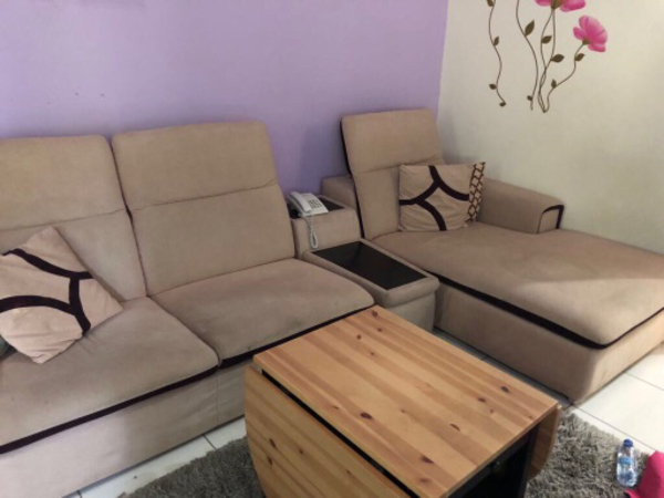 Used L shape sofa and tables  in Dubai, UAE