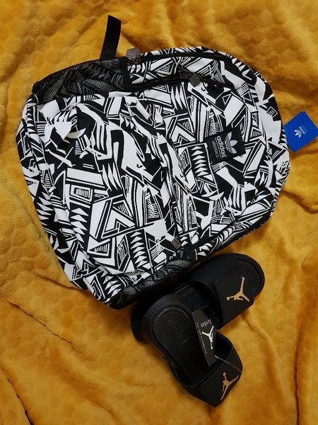 Used Adidas Bag & Jordan Slippers in Dubai, UAE