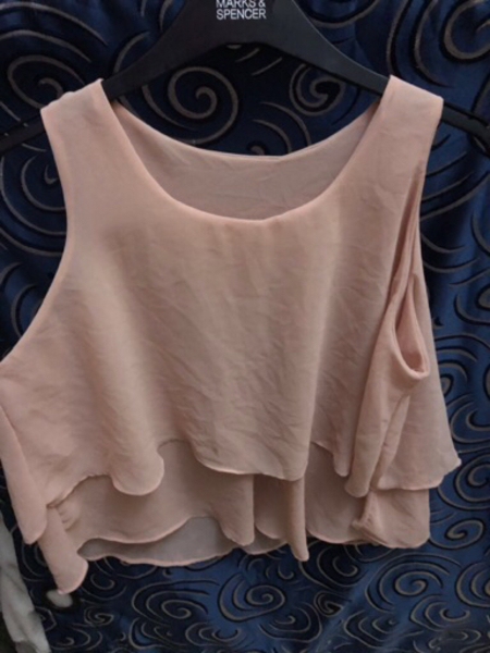 Used Sheer Sleeveless Top in Nude Pink in Dubai, UAE