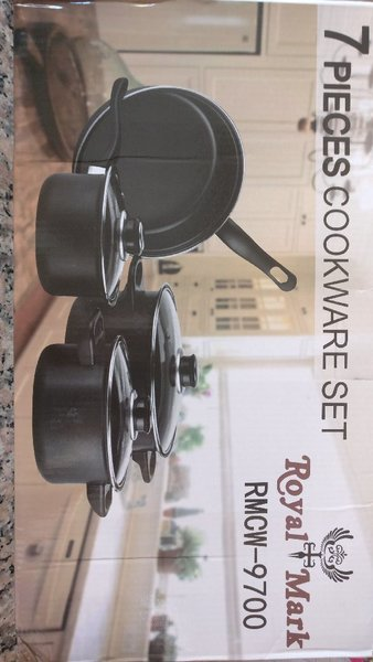 Used Brand new 7pc NON-STICK COOKWARE set in Dubai, UAE