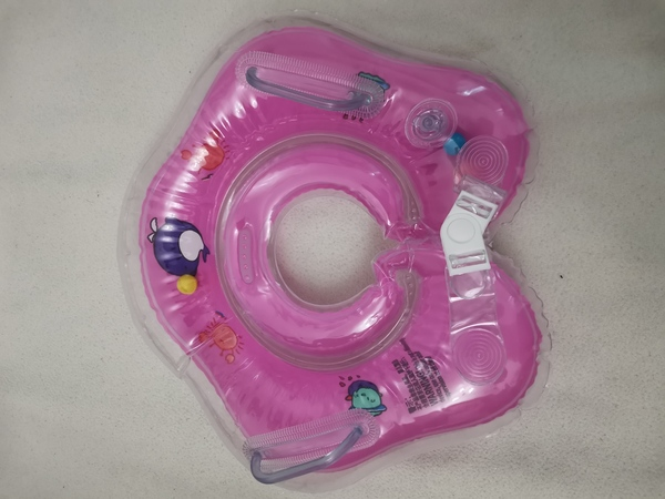 Used Baby Neck Inflatable Float Rose (pink) in Dubai, UAE