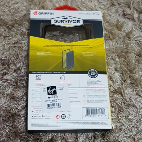 Used Griffin Case Samsung S7 Edge 4ft Drop Protection. Minor used. Virgin Store.Original With Bill in Dubai, UAE