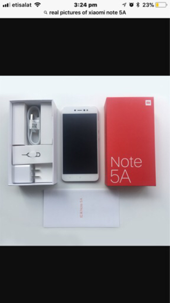 Used Xiaomi Redmi note 5A, 32GB ROM, 3GB RAM in Dubai, UAE