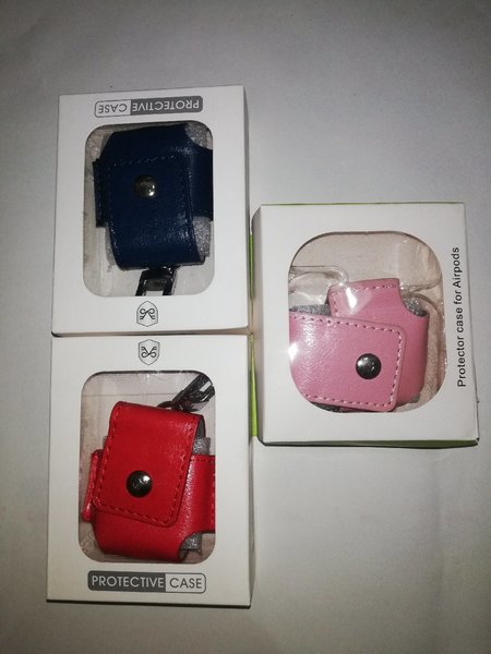 Used Leather Airpod Case Multicolor BUNDLE in Dubai, UAE