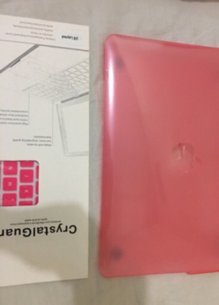 Used Plastic case and Silicon Keyboard, Pink in Dubai, UAE