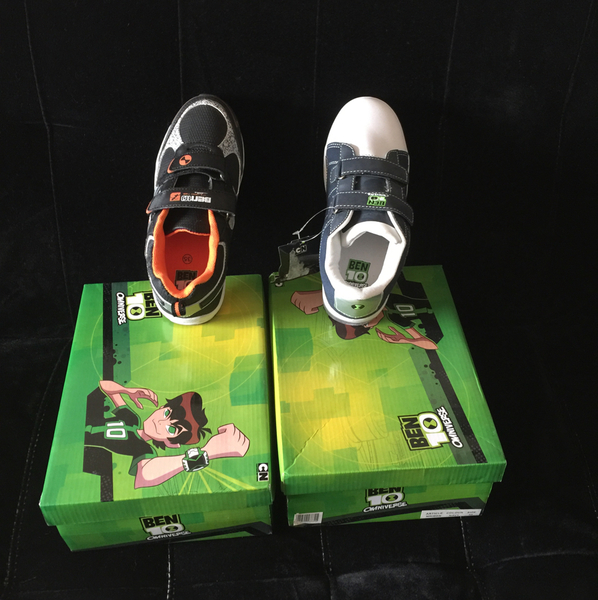 Used Ben10 Shoes Two Pairs Size 35 New#  in Dubai, UAE