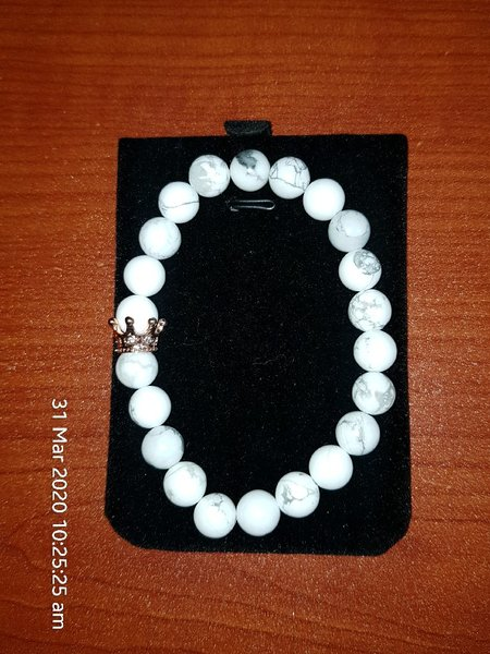 Used anti stress bracelet white in Dubai, UAE