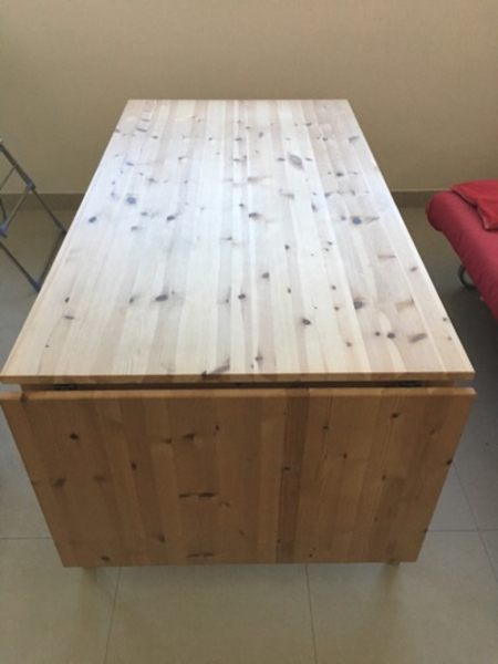 Used IKEA Nornas - Natural Wood table in Dubai, UAE